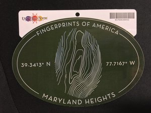 STICKER Maryland Heights Fingerprints of America