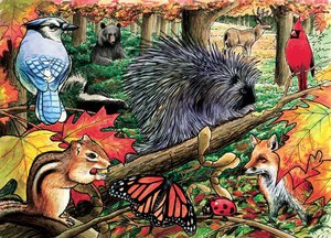 Eastern Woodlands Tray Puzzle 35 Pieces