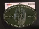 STICKER Maryland Heights Fingerprints of America