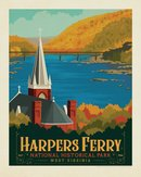 Retro Ranger Harpers Ferry Print
