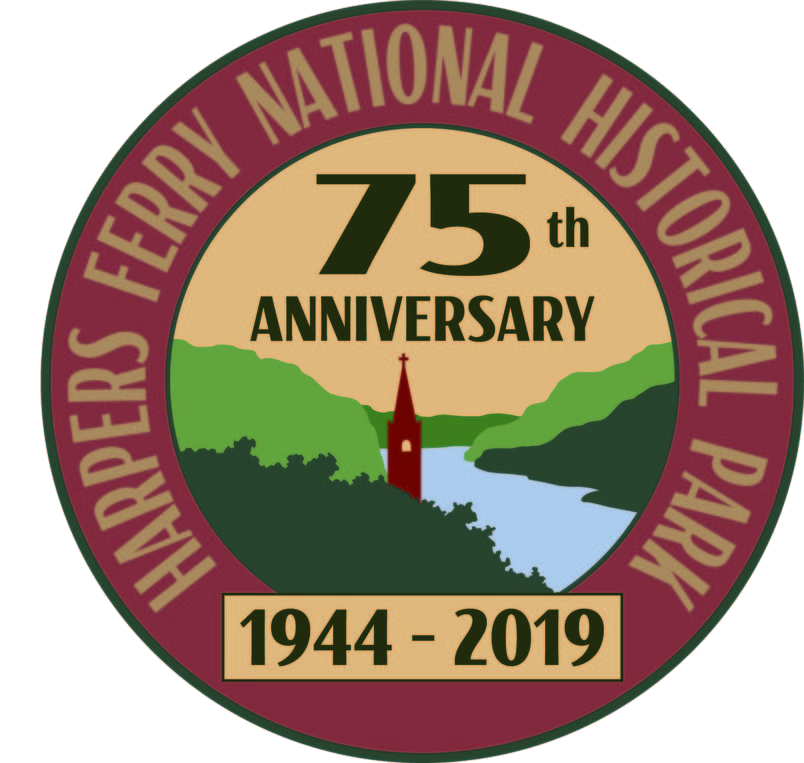 Harpers Ferry National Historical Park 75th Anniversary Logo